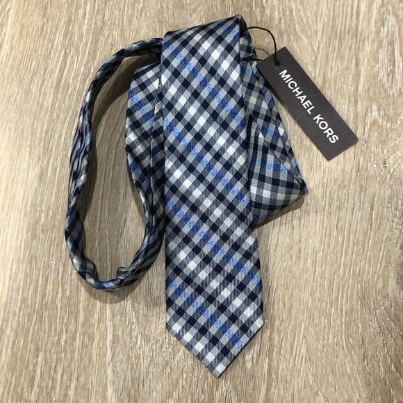 Michael Kors Men's Checkered Tie Black/White